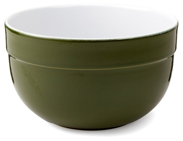 S/3 Assorted Deep Mixing Bowls, Olive
