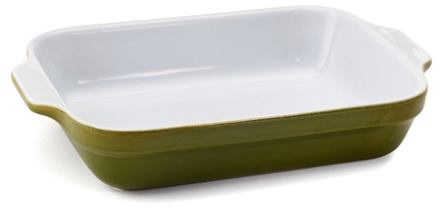 S/2 Lasagna Dishes, Olive