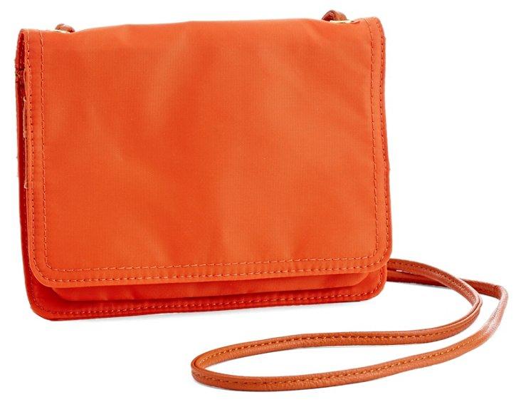 Nylon Crossbody, Orange