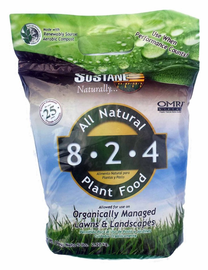 S/3 Organic Fertilizers, 8-2-4 Lawn Food