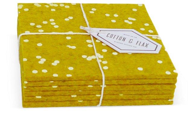 Gold Confetti Coasters, Set of 6