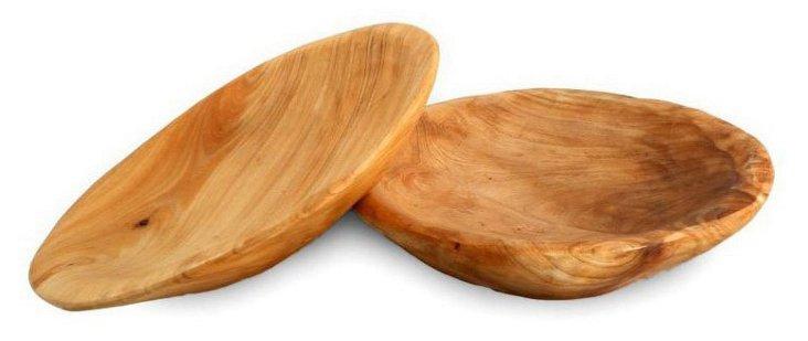S/2 Round Fir Plates