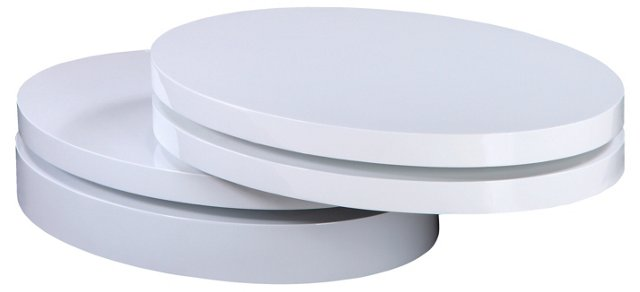 Slicer Coffee Table, White