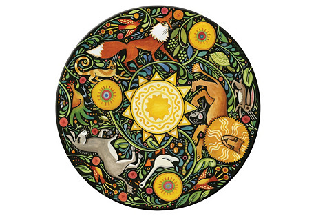 S/4 Aesop's Fables Round Place Mats