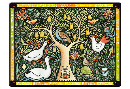 S/4 Pear Tree Place Mats