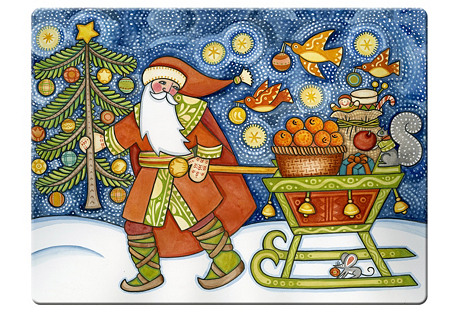 S/4 Father Christmas Place Mats