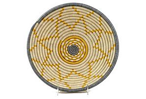 Large Hope Basket, Natural/Gold