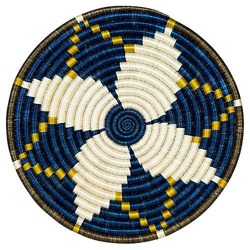 "10"" Sisal Trivet, Blue Night/Multi"