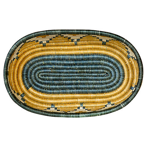 "12"" Mirage Bread Basket, Metallic Gold/Gray"