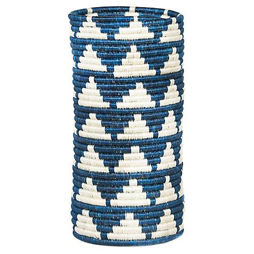 """11"""" Igisozi Vase, Blue Night"""