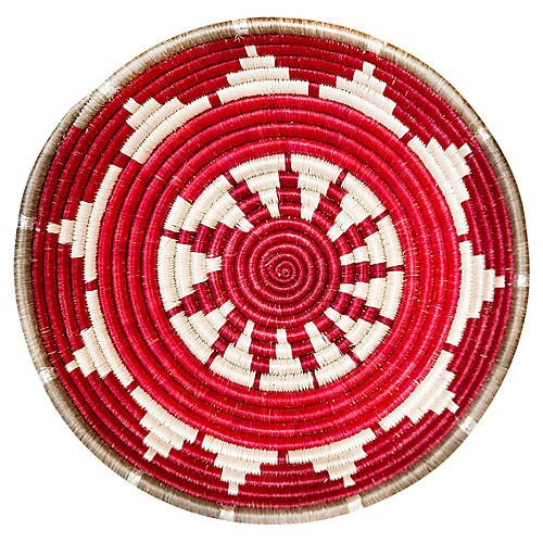 "10"" Kwizera Medium Basket, Earth Red"