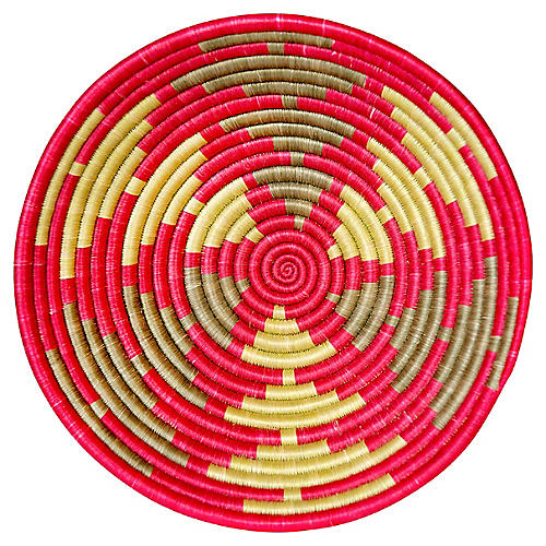 """12"""" Iroza Large Basket, Hibiscus"""