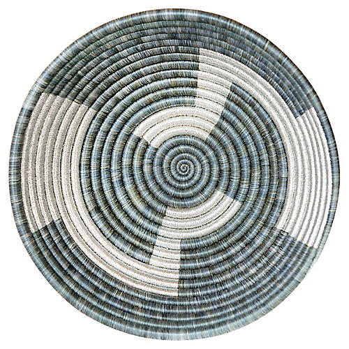 "12"" Inka Large Basket, Mirage Gray"