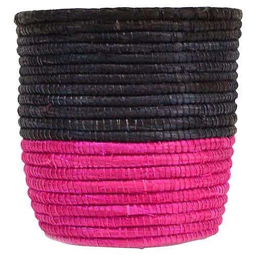 "3"" Planter Small Basket, Black/Pink"