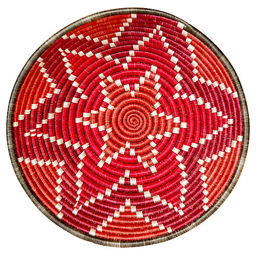 "12"" Nyanza Large Basket, Earth Red"