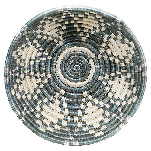 """6"""" Rwanda-Style Small Basket, Mirage Gray"""