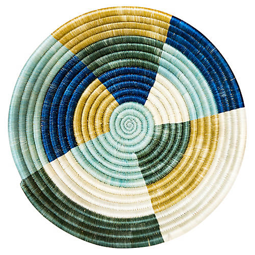 """10"""" Umuseke Medium Basket, Blue/Yellow"""