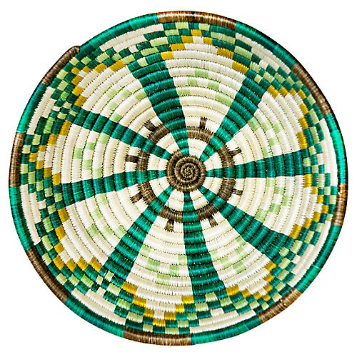 "10"" Akagera Medium Basket, Green/Multi"