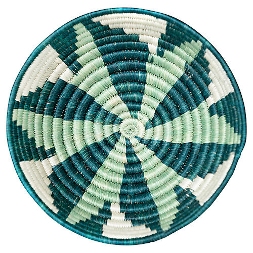 "6"" Ndora Small Basket, Teal/Blue"