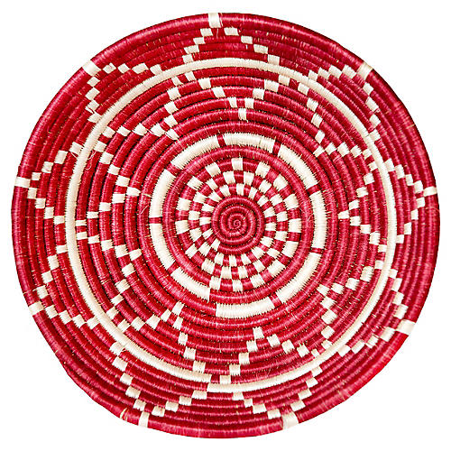"12"" Thousand Hills Large Basket, Fiery Red"