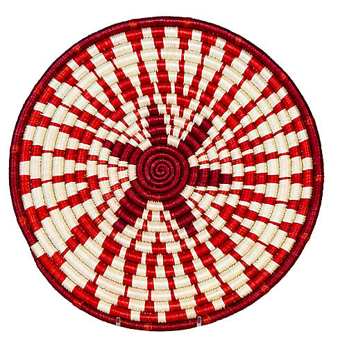 Intore Trivet, Red/White