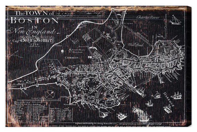 Oliver Gal, Town of Boston Map 1722