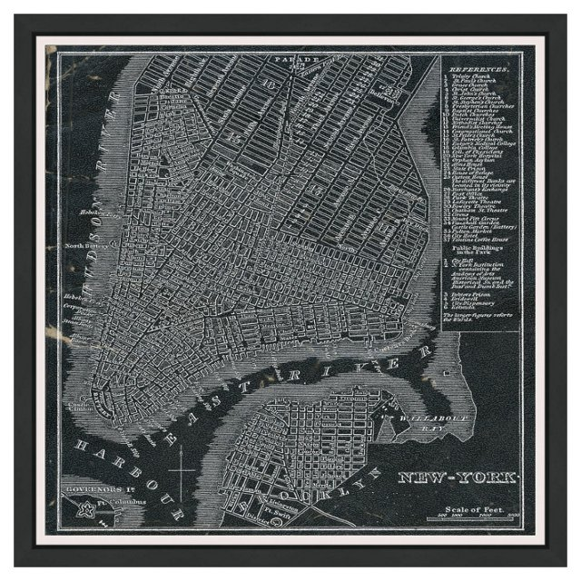 Oliver Gal, New York Map,1946