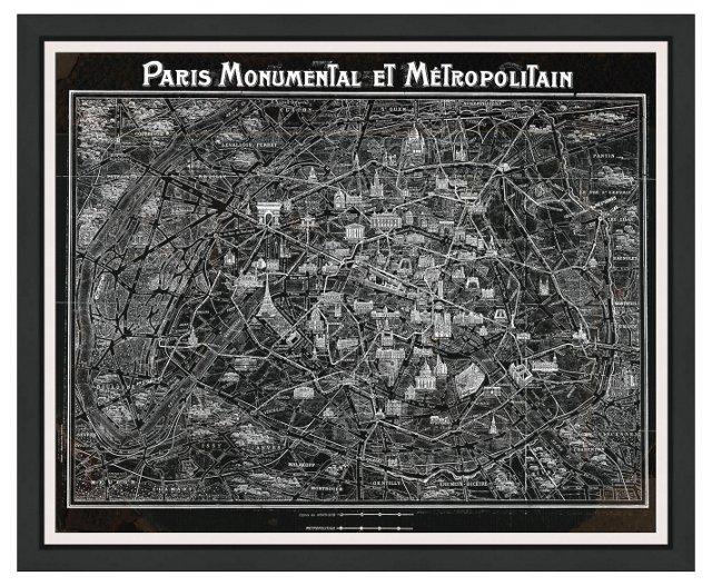 Oliver Gal, Paris Metropolitain Map,1920
