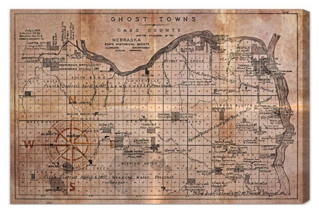 Oliver Gal, Ghost Towns Map 1866