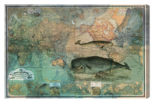 Oliver Gal, The World Map 1870