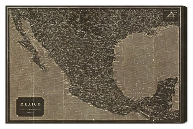 Oliver Gal, Mexico 1919 Map