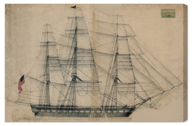 Oliver Gal, USS Constitution Sail Plan 1817