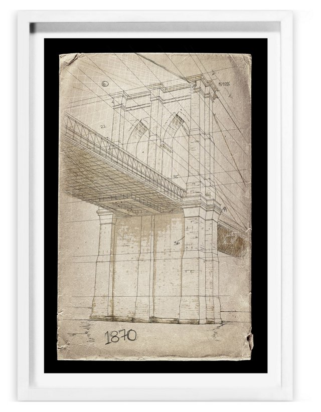 Oliver Gal, Brooklyn Bridge 1870