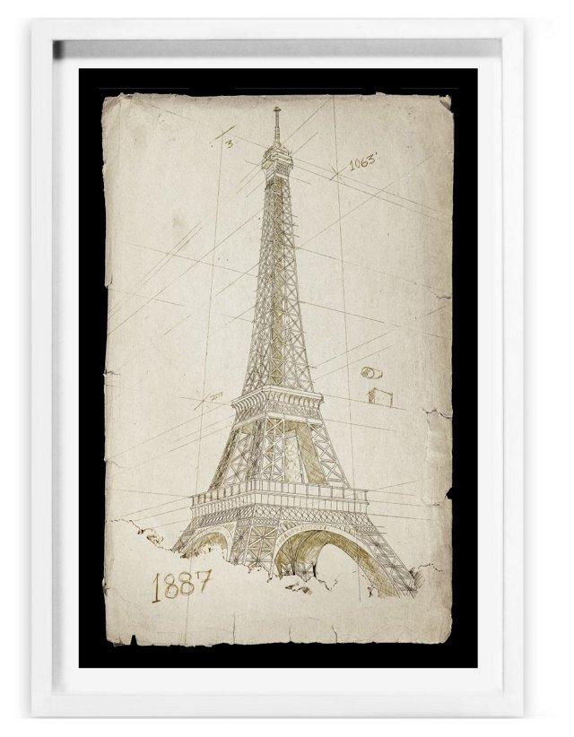 Oliver Gal, Eiffel Tower, 1887