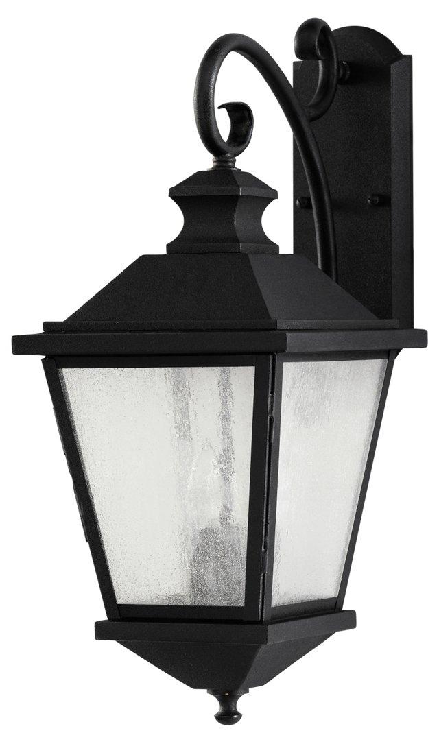 Woodside 3-Light Wall Lantern, Black