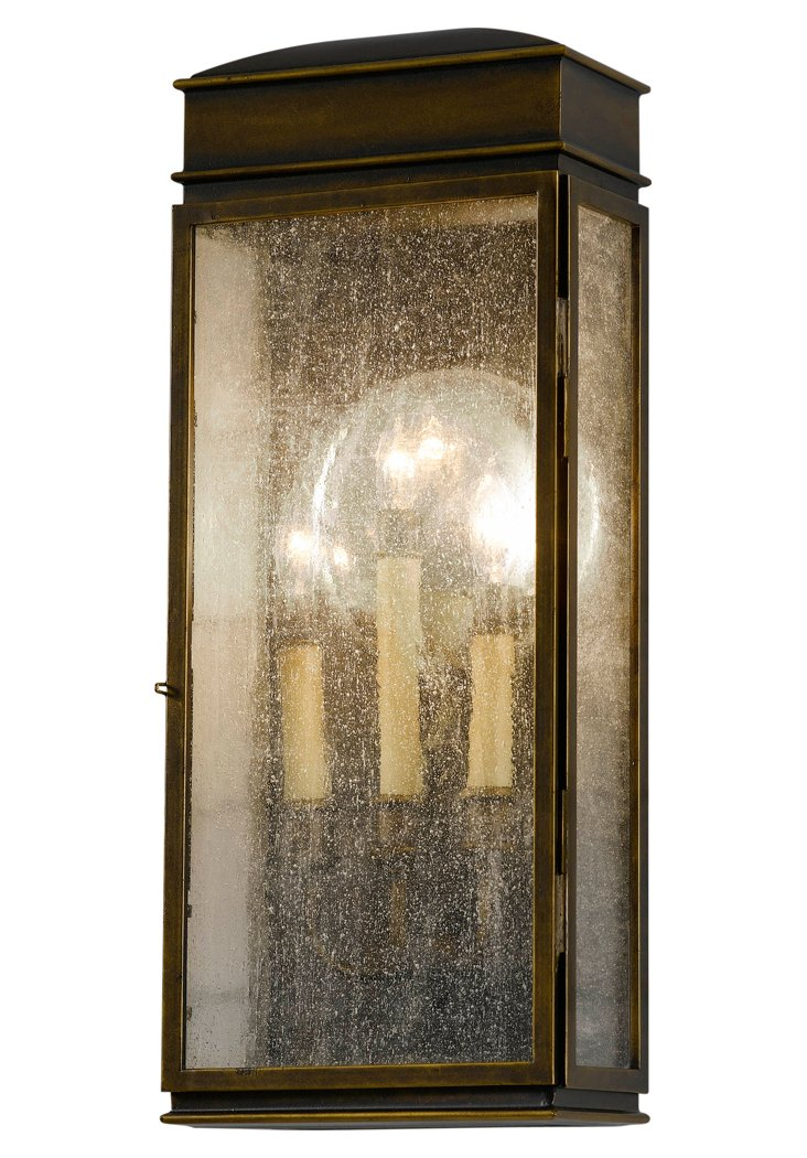 Whitaker 3-Light Wall Lantern, Bronze