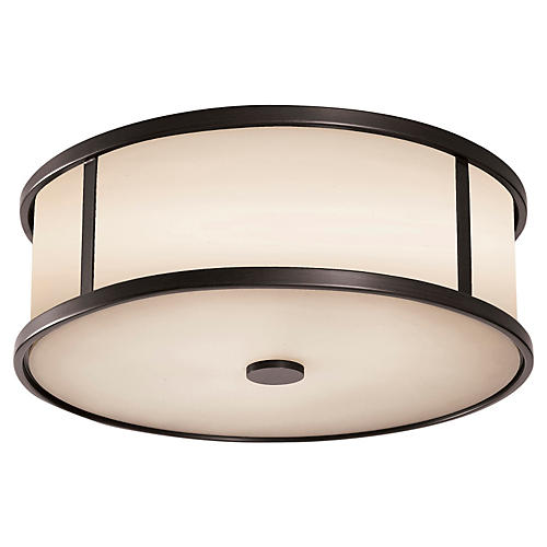 Dakota 3-Light Flush Mount, Espresso