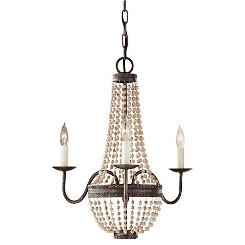 Charlotte 3-Light Chandelier, Bronze