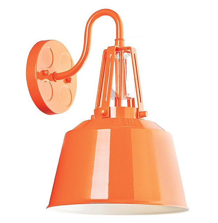 Redmond 1-Light Sconce, Orange