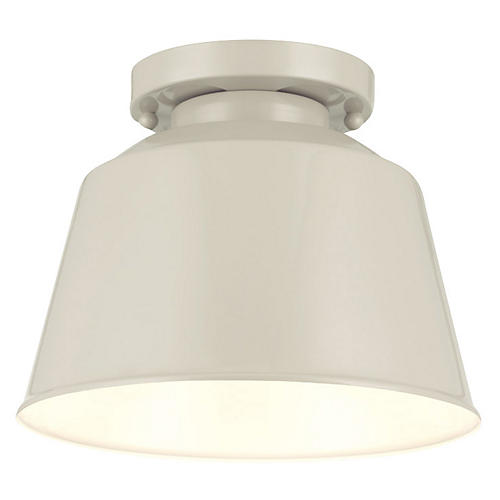 Exton 1-Light Flush Mount, Gray