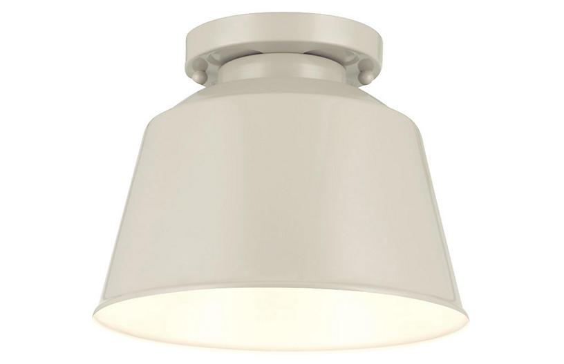 Exton 1-Light Flush Mount, Gray