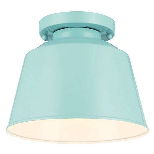 Exton 1-Light Flush Mount, Blue