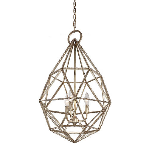 Marquise 3-Light Pendant, Burnished