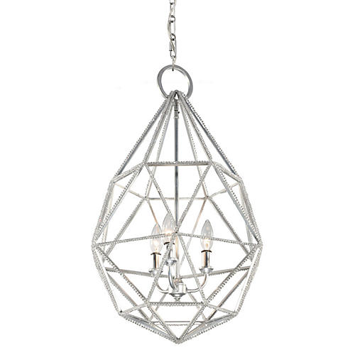Marquise 3-Light Pendant, Silver