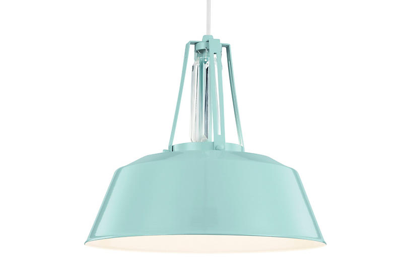 Redmond 1-Light Pendant, Blue