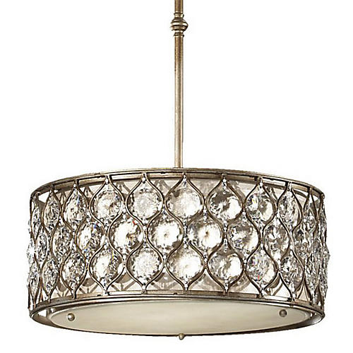 Lucia Chandelier, Burnished Silver