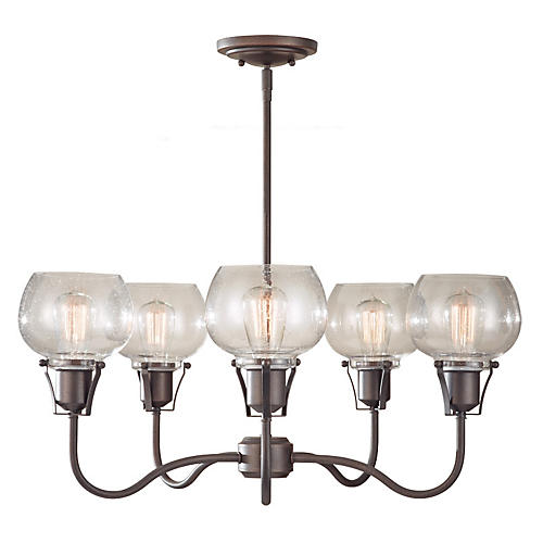 Urban Renewal Chandelier, Rustic Iron