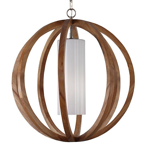 Allier 1-Light Pendant, Aged Oak