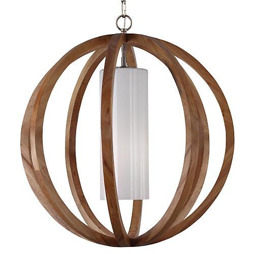 Allier 1-Light Pendant, Aged Oak