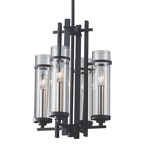 Ethan 4-Light Chandelier, Iron